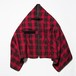 """Flannel Check """"Travelling Rug"""" Red"""