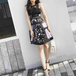 Blackpink embroidered lace dress