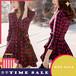 【ワンピース】アメリカストリートファッションチェックカジュアルワンピース24468512