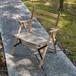 Tabi Chibi Chair  STR-4  Coffee Stripe(チビチェア:コーヒーストライプ)