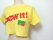 1980's MOUNTAIN DEW ショート丈カットオフTシャツ レモンイエロー 表記(M) マウンテンデュー