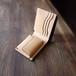 二つ折り財布:SLOW(コインポケットのボタンが隠れる仕様)