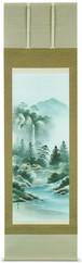 彩色山水 小林翠月 尺五立 6057