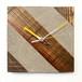 木 × コンクリートの掛け時計