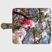 ぺりま003 梅と空  かわいいおしゃれな手帳型スマホケース