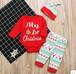 クリスマス★ベビーロンパース・帽子・ズボン3点セット