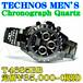 テクノス 紳士 クロノグラフ クォーツ T4685BB 定価¥35,000-(税別)