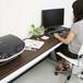 【激安/ネット最安値】薄型パソコンデスク ハイタイプ 幅180×奥行45 ブラウン 4518H