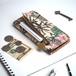 【カードが入る】片マチ ファスナーポケット付 アイフォンケース(パーム)手帳型 牛革 TPUソフト ILL-1188