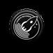 LAUNCH RECORDS ロゴ缶バッチ(ブラック)