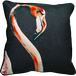 Jimmie Martin Cushions Black single flamingo