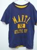 1970's ダブルフェイス(リバーシブル)Tシャツ 100%コットン ネイビー×イエロー 実寸(M~L)