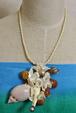 真珠×巻貝ネックレス
