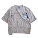 Remake Hand Lock Patching T shirt -Gray #A
