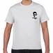 (綿100-ホワイト)土居ランニングクラブ DRC-Tshirtsワンポイント