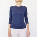 Classic Cashmere Long Tee / クルーネック D.Blue