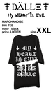 "big tee ""My HEART is EVIL""<XXL>"