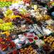 マルシェ 市場に並ぶ新鮮な果物 Fresh fruits vegetables in market
