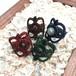 天然石のマクラメ編みリング/ゴシック調