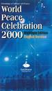 「平和の文化」創造のための2000年祭・ハイライト版(英語版)