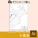 千葉県の白地図データ