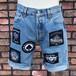 Used Cut Off Levi's #501 Denim Shorts  Motörhead W30