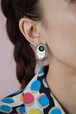 silver 925+malachite earrings