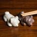 柴犬 陶器の箸置き(ペア)