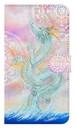 【鏡付き Mサイズ】 龍宮神 白曼荼羅つき RyuGuJin Divine Dragon-White Mandala 手帳型スマホケース