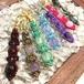天然石のマクラメ編みキーホルダー/長い花瓶(ラベンダーアメジスト)