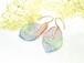 3色(天然ラピスラズリ・マラカイト・本朱)と純金で色づいた・葉っぱのレースのピアス 編集する