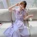 【set】フェミニン着瘦せセットアップスウィートブラウス+スカート