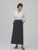 linen long skirt