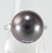 【三越ジュエリー】11.5㎜珠 黒蝶真珠 ダイヤモンドリング Pt1000 ~【Japanese luxury store `MITSUKOSHI` jewelry】11.5 ㎜ Black Pearl Diamond Ring Pt1000~