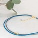 ◍choker necklace(blue)