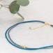 ◍choker necklace(blue)
