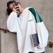 【配送優先】【トップス】カジュアル長袖切り替えフード付きパーカー26795518