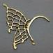 ae02蝶々の羽イヤーフック 真鍮製