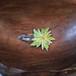 花刺繍のパッチピン(ライムグリーン)