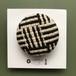 ひょうたんカフェの織りブローチ <NO.5…ホワイト×ブラック>