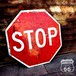 アメリカンヴィンテージ STOP ダブルフェイス看板 ロードサイン オクタゴン 八角形【H-034-035】