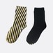 METAL SOX (STRIPE) BLACK X GOLD