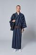 きもの / 片貝木綿 / あやおり / Stripe / Blue(With tailoring)