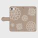 手帳型スマホケース iPhone(各種サイズ)_タティングプリント柄
