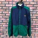 1990s Reebok Nylon Jacket Green/Navy Large