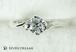プラチナ婚約指輪 4ポイント2サイド・ツイストエンゲージ