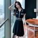 【dress】トレンドファッションレトロ薄ニットデートワンピース2色