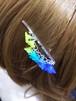 枝垂れヘアピン 青〜黄緑
