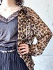 Dead Stock Vintage Leopard Pattern See Through Blouse