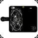 #016-004 iPhone8対応 クール系・ロック系《ドクロ神父》 手帳型iPhoneケース・手帳型スマホケース 全機種対応 作:nero Xperia ARROWS AQUOS Galaxy HUAWEI Zenfone